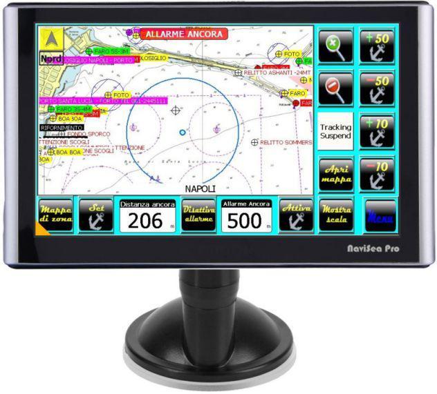 Navigatore gps nautico cartografico plotter con display a