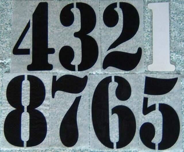 Serie numeri dal 1 al 8 per maglie calcio o altro sport