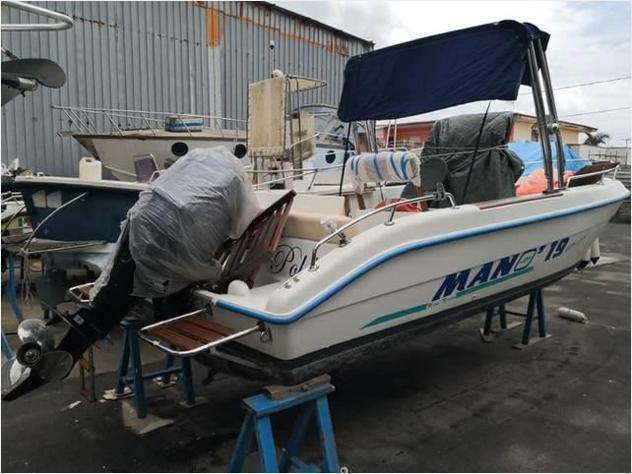 Barca a motoremano marine mano 19 open 40 4t open anno2019
