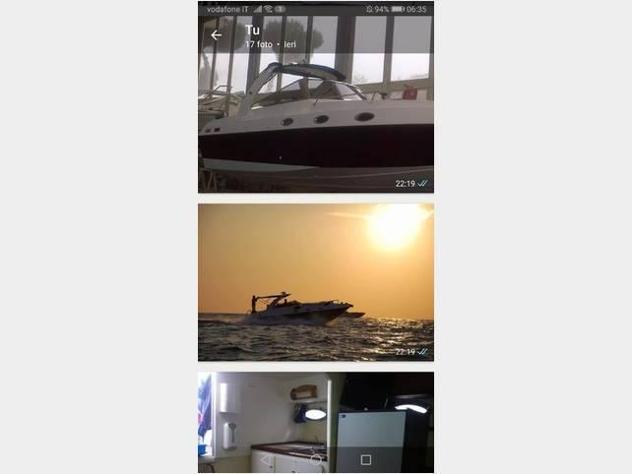 Barca a motoremolinari cabinato 950 2td 200 volv anno1990
