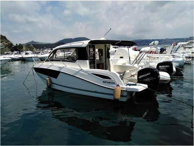 Barca a motorequicksilver cabin 760 fb 300 full ful anno2018
