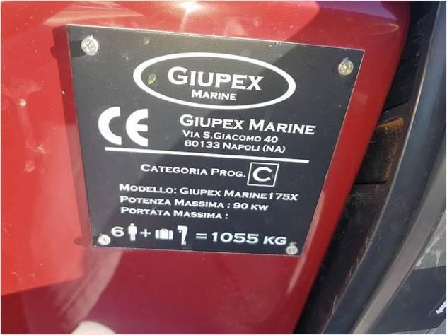 Barca a motorezona neutra open giupex 175 anno2017 lunghezza