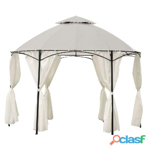 Gazebo dakota tondo diam. 3.5 mt bianco con tende nuovo art.7403040000 consegna gratuita