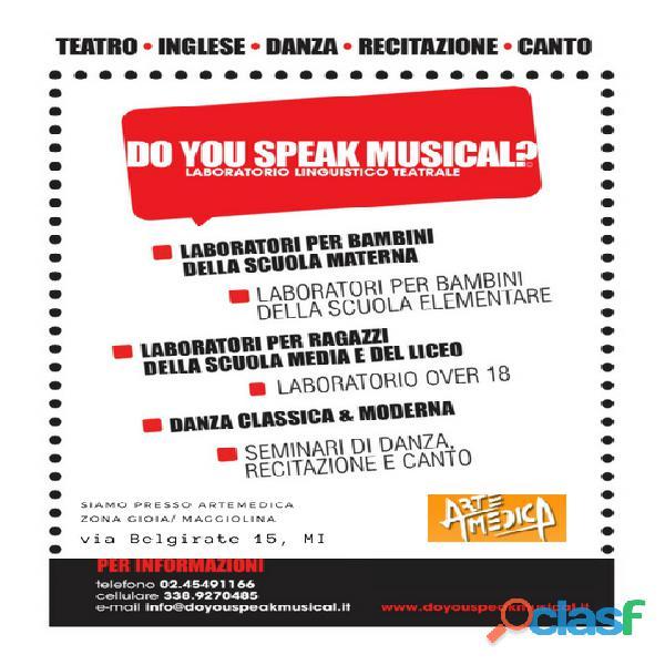 Corso di musical in inglese per tutte le eta'