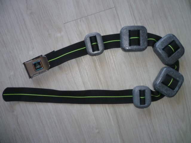 Cintura sub technisub con 8 kg nuova