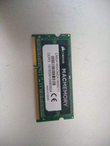 Memoria ram 8 gb ddr3 1600 mhz