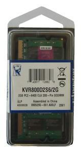 Memoria ram kingstone ddr2 sdram 2gb pc6400 x portatili