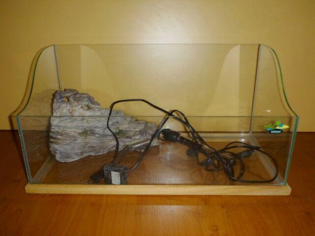 Acquario tartarughiera in vetro e accessori