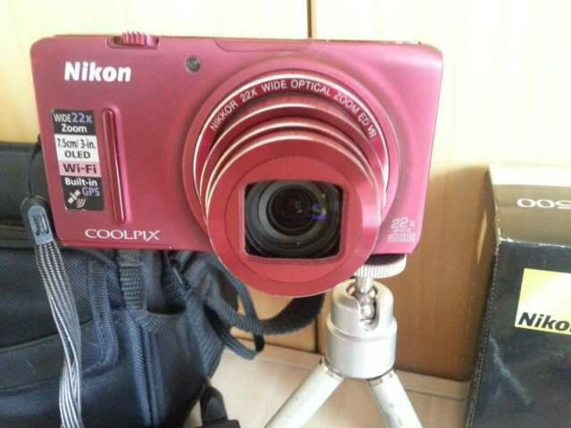 Nikon s9500 full-hd 18.1mp lcd digitale wifi gps fotocamera