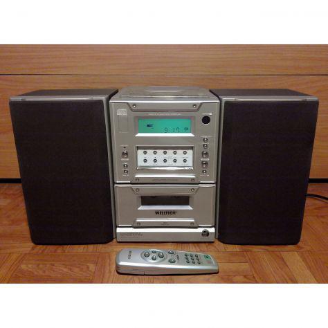 Stereo hifi mini con lettore cd, cassette, radio,