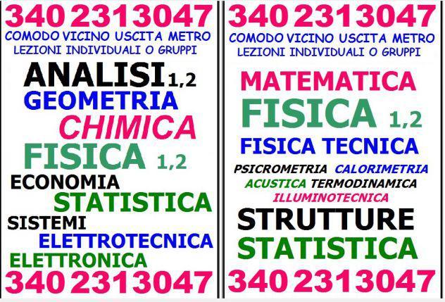 Analisi,fisica,chimica,geometria,statistica,sistemi,elettrot