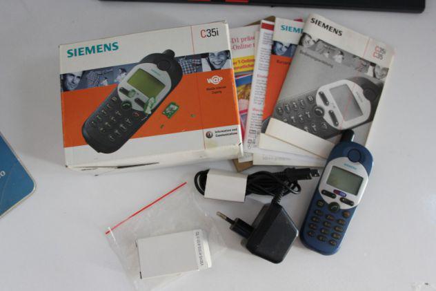 Cellulare siemens c35i, vintage, da collezione con scatola.