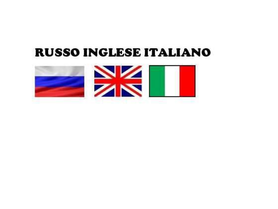 Italiano-russo/italiano-inglese - interprete e insegnante