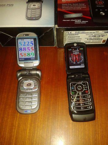 Motorola v6 ferrari e samsung sgh-p920 cellulari umts