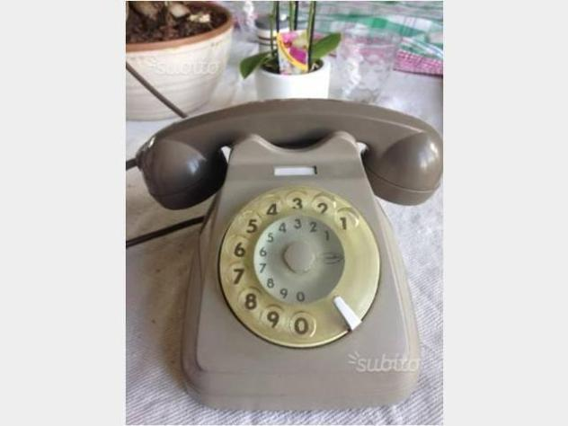 Telefono vintage a disco sip funzionante usato