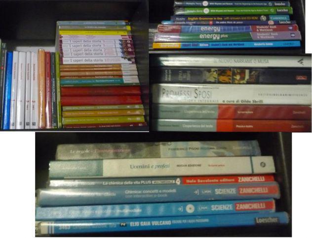 Libri scolatici usati per il liceo scientifico e altri