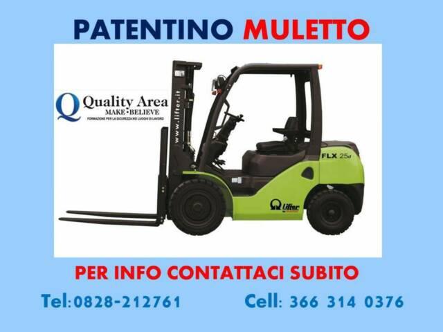 """Patentino carrello elevatore (muletto) """"in tutta italia"""""""