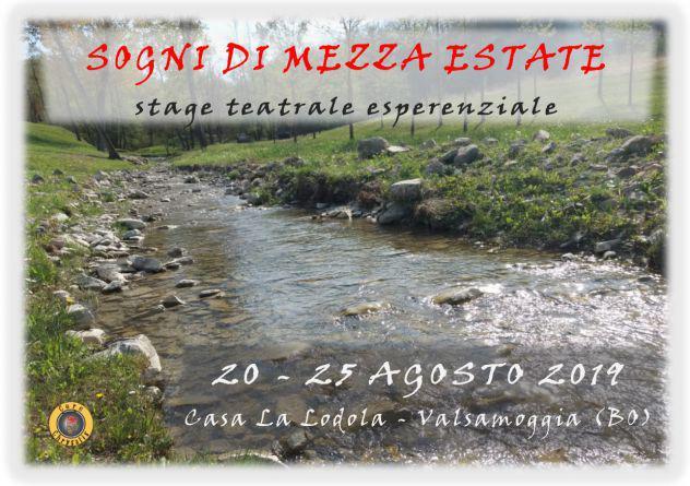 """Stage teatrale """"sogni di mezza estate"""" - 20 - 25 agosto 2019"""