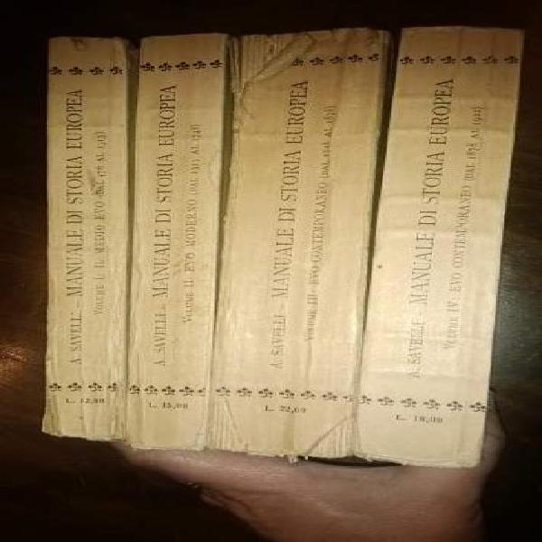 Savelli, manuale di storia europea