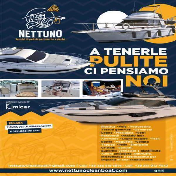 Servizi di pulizia per barche, yacht ed immobili