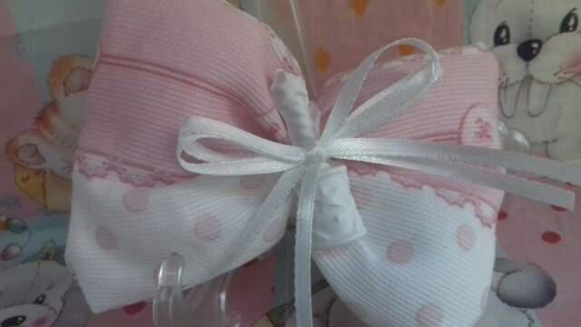 Bomboniera fiocco rosa