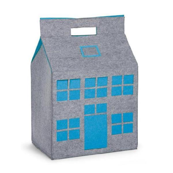 Childwood contenitore giocattoli grigio/turchese 50x35x72 cm