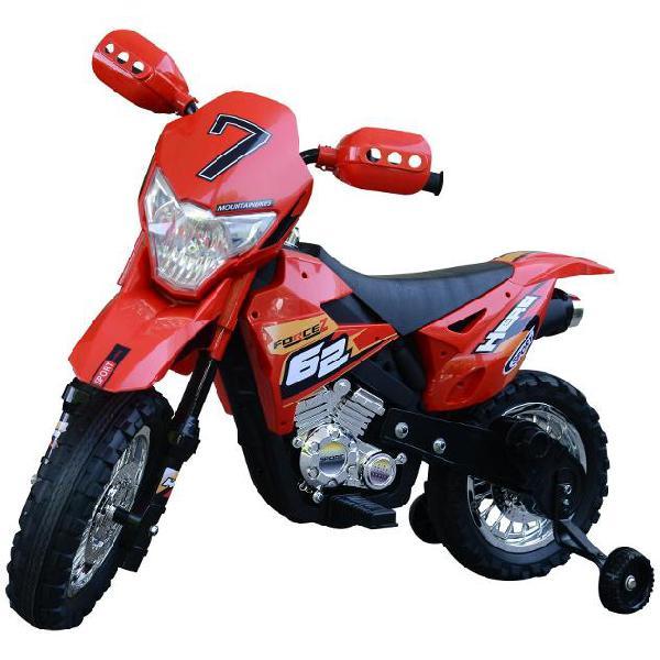 Moto cross elettrica per bambini 6v rossa benzoni