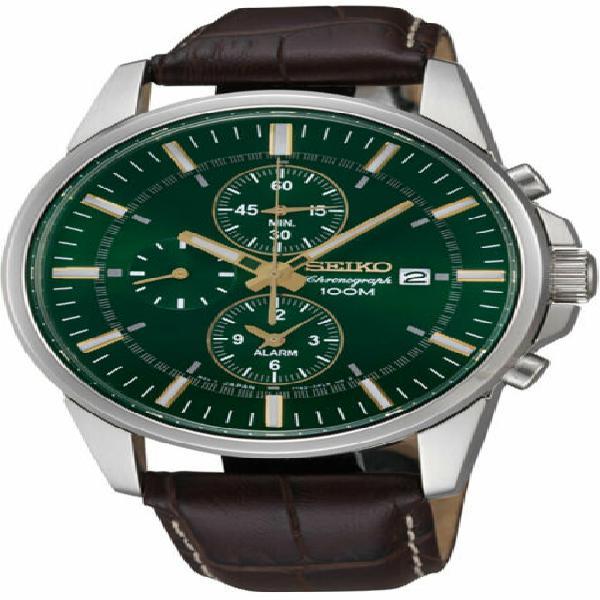 Orologio uomo seiko alarm chronograph snaf09p1