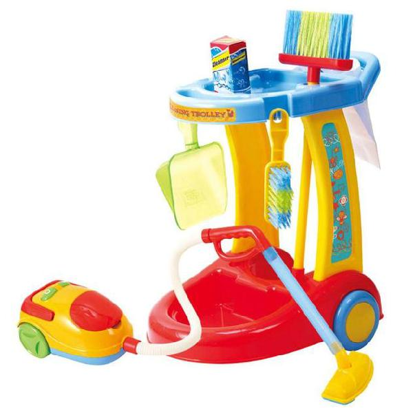 Playgo carrello pulizie my cleaning trolley with vacuum