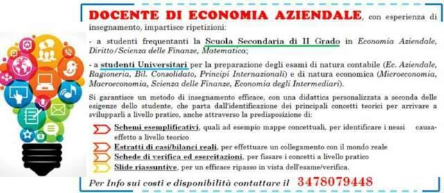 Ripetizioni economia aziendale & matematica & diritto