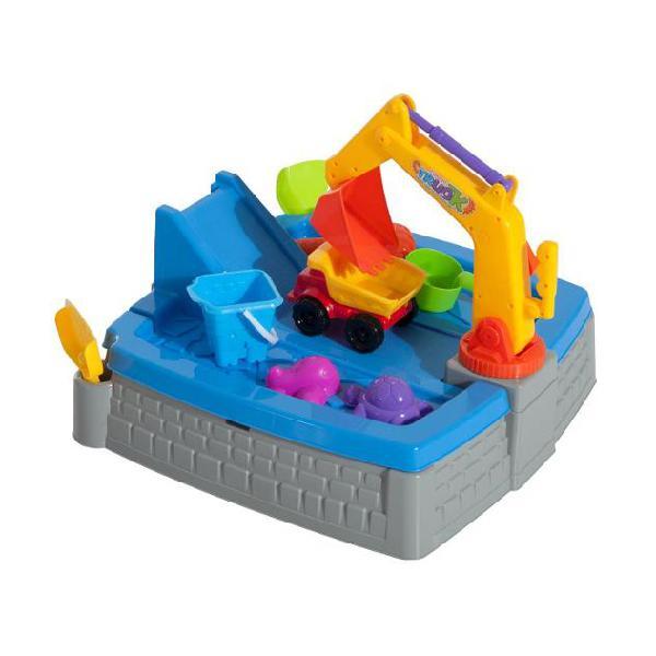 Set escavatore giocattolo da spiaggia per bambini 11 pezzi