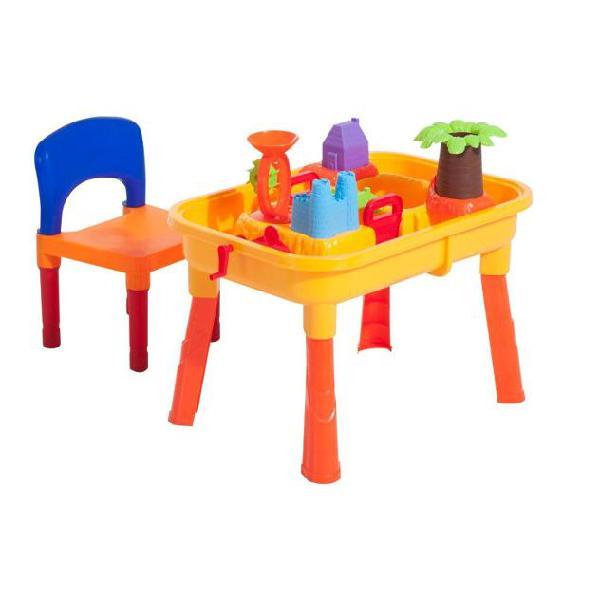 Set gioco 32 pezzi con tavolo sedia castello formine benzoni