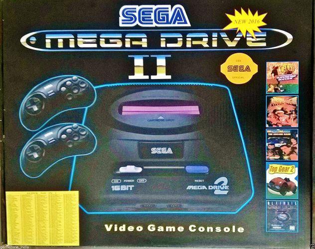16 bit game console sega mega drive 2 nuova in scatola con