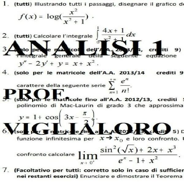 Analisi matematica 1 ingegneria (marras, pintus)
