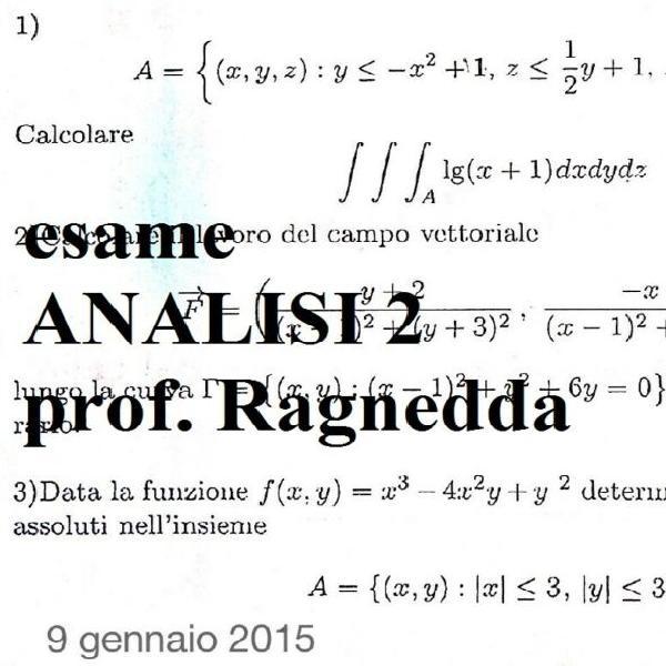 Analisi matematica 2 (ingegneria) marras iannizzotto van der