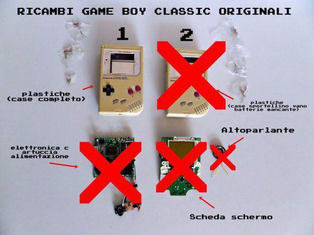 Case ricambio game boy classic originale
