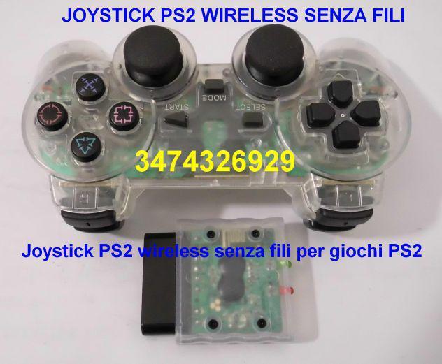 Joystick ps2 wireless senza fili per giochi ps2