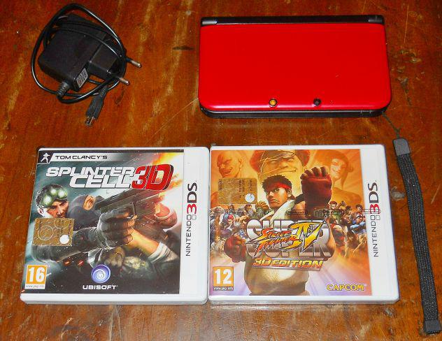 Lotto console nintendo 3ds xl rosso + giochi splinter cell