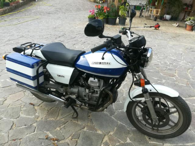 Moto guzzi v50 polizia iscritta epoca fmi