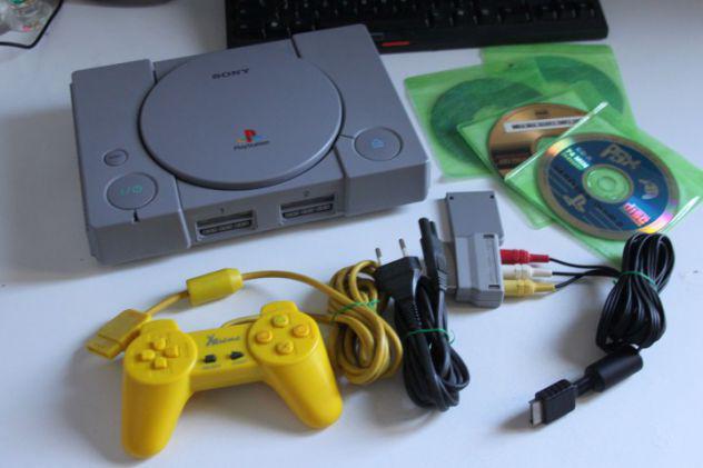 Playstation 9002 con m.o.d. c.h.i.p controller cavi e giochi