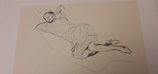 Stampe disegni giovanili del GUTTUSO, senza cornice Bollate