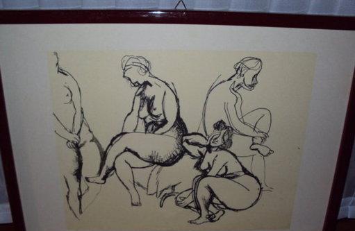 Stampe litografiche originali del guttuso, con cornice