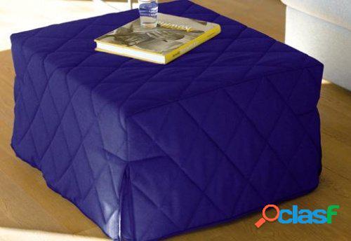 Pouf letto economico cotone colore blu