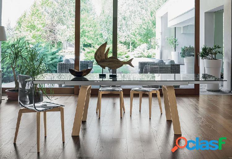 Tavolo pranzo vetro legno 【 OFFERTES Luglio 】 | Clasf
