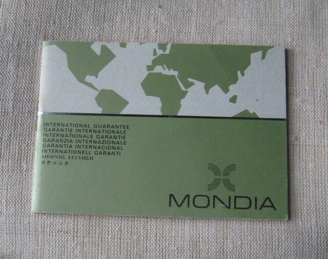 Mondia by zenith libretto porta-garanzia nos vintage