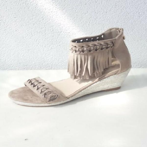 Sandali zeppe con frange nr 37 mai usati nuovi scarpe donna