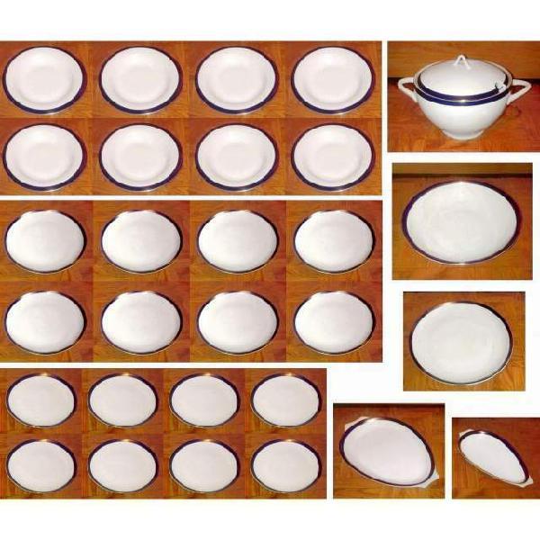 Servizio di piatti in porcellana fine, di boheme, degli anni