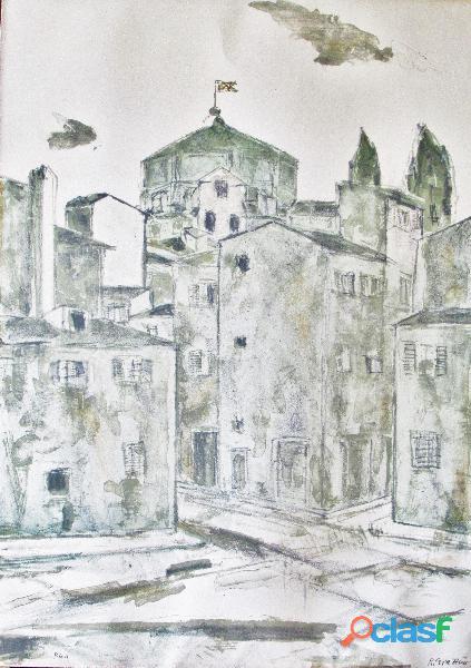 Renzo grazzini (1912/1990)   litografia originale firmata e numerata