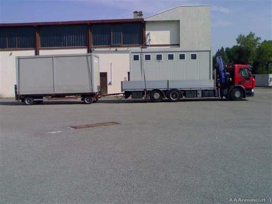 Trasporti baracche di cantiere con gru a milano