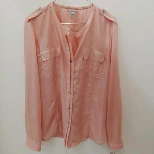 Blusa donna calvin klein rosa glitter